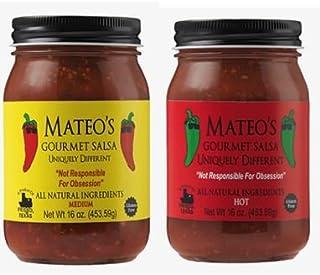 Mateos Gourmet Salsa, Medium & Hot 16 oz (Variety Pack)
