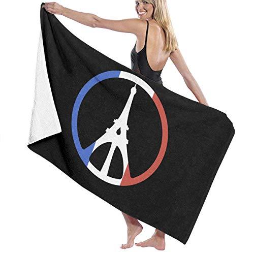 asdew987 Toallas de playa Torre Eiffel Paz Toallas de baño para adolescentes y adultos Toalla de viaje 31 x 51 pulgadas