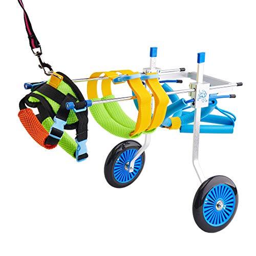 BEETLA Adjustable Pet Wheelchair for Small Dog Cat/Doggie/Puppy Walk, 2 Wheels Cart Pet Wheelchair...