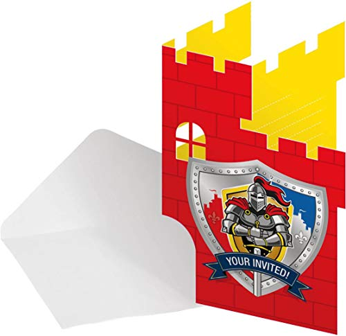 Folat NEU Einladungen Ritter & Wappen, 8 STK.