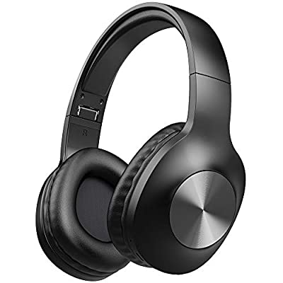 Bluetooth Headphones, LETSCOM 100 Hours Playtime Wireless Headphones Over Ear with Deep Bass