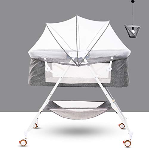 Best Bargain Sisyria Folding Baby Crib,Portable Baby Bassinets Cradles Breathable Infant Lounger Bed...
