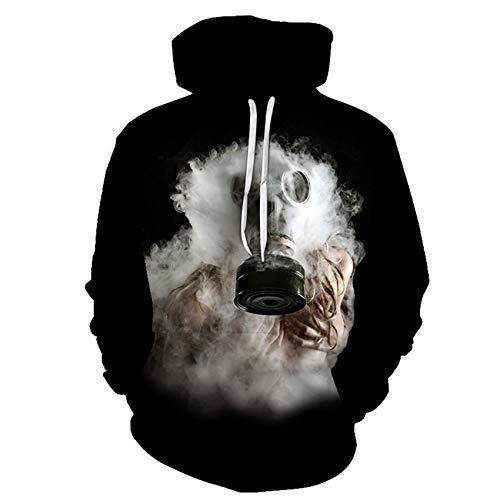 LiDaiJin Digital Print Blatt Hoodie Sweatshirt