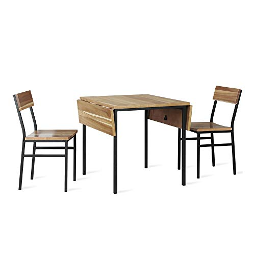 Dorel Living Harden 3 Piece Dining Set, Natural
