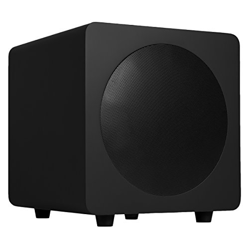 """Kanto sub8 Powered Subwoofer – 8"""" Paper Cone Driver — Powerful Bass Extension – Matte Black"""