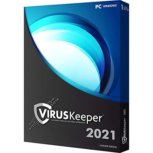 Logiciel Antivirus VirusKeeper 2021 Ultimate Edition | 1 PC | 1 an | Clé d'activation de licence ESD