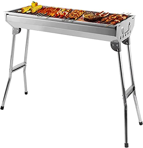 BBQ Charcoal Grill Portable Foldable Barbecue Grill...
