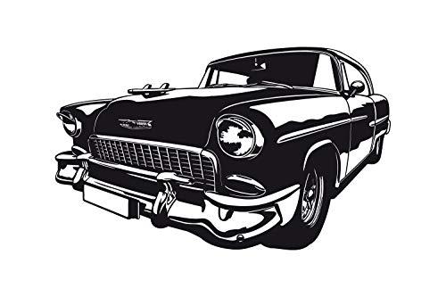 universumum Muurtattoo Chevrolet Bel Air 1955 uss279 Muursticker Muurtattoo kinderkamer zelfklevend 60 x 36 donkerbeige