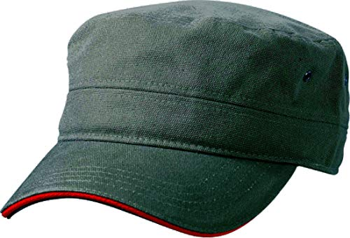 Myrtle Beach Cap Military Sandwich, olive/red, one Size, MB6555 olrd