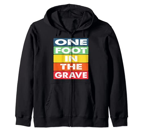 One Foot in the Grave Amputierter Rollstuhl Design für Amput Kapuzenjacke