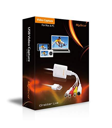 MyGica iGrabber Live Box USB Acquisizione Video Live Streaming Free Driver per Windows Mac Linux Digitalizza Video Capture USB 2.0 RCA VHS to Dvd OBS Studio Open Broadcaster Software/Nuova Versione