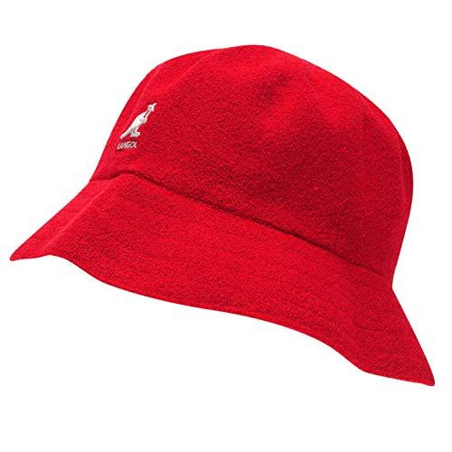Kangol Herren Boucle Bucket Hut Mütze Rot Small/Medium