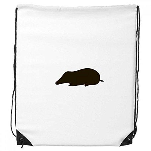 Black Mole Animal Portrayal Trekkoord Rugzak Winkelen Handtas Gift Sport Tassen