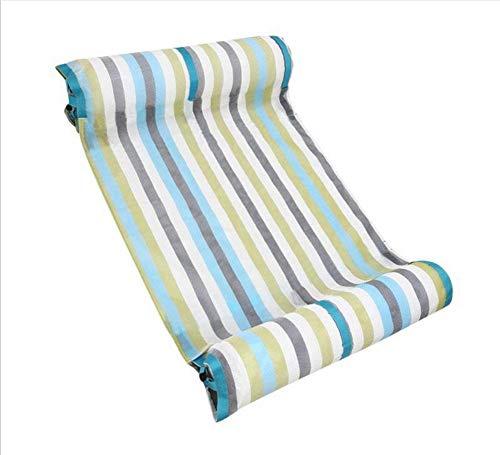 QUUY Hamaca hinchable para piscina con bomba manual, cama flotante ligera para piscina, hamaca portátil para piscina para adultos y niños, 117 x 72 cm