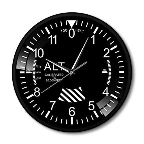 YJSMXYD Wanduhren Moderne Silent Clocks Klassische Höhenmesser Runde Uhr Moderne Höhenmesser...