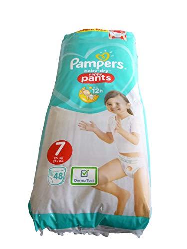 Pampers Baby-Dry Windelhöschen, Größe 7, 17 kg, Jumbo+ Pack