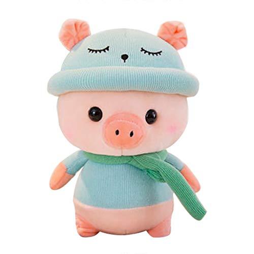 Gaddrt Plüschtier SpielzeugKinderschwein Angefüllt Tier Plüsch Schwein Kindergeschenke Babyspielzeug 7,8 Zoll (Blue, 30CM20CM*20CM)