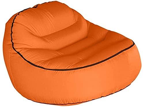 Stahlrahmenbecken Inflatable Pools Aufblasbares Sofa, Faltbare bewegliche Mittagspause Tasche Einzelner Stuhl Innen-und Außensitze Stuhl Mit Aufbewahrungstasche Aufblasbare Pools ( Color : Orange )