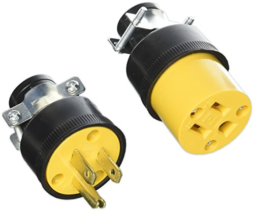 Set Male & Female Extension Cord Replacement Electrical End Plugs 3-Wire Pack