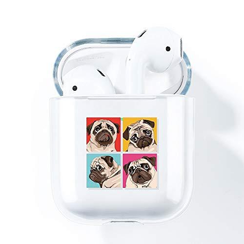 AKABEILA Airpods Hülle Hülle Cute, Kompatibel mit Apple Airpods 2 Generation Hülle Durchsichtig Silikon Air pods 1 Schutz Hüllen Zubehör [LED an der Frontseite Sichtbar] [Stoßfeste Schutzhülle] H&