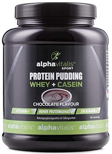 Protein Pudding Creme 500g - Whey + Casein - Hoher Proteingehalt - Zuckerarm + Fettarm - Geschmack: Schokolade