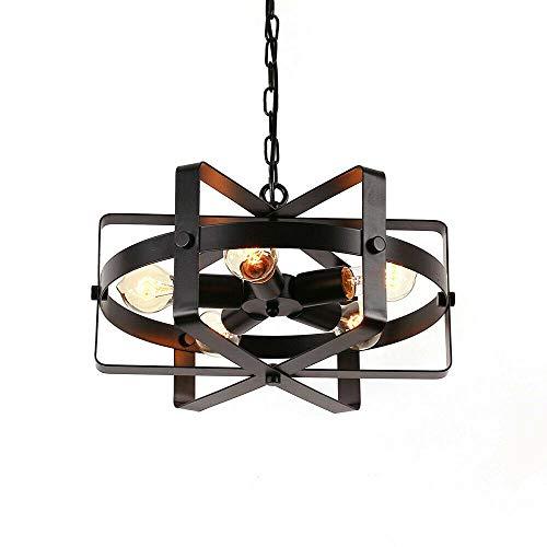 Lámpara colgante retro vintage, lámpara de techo antigua, lámpara de techo retro, industrial, de metal, ideal para comedor, dormitorio, café, bar, sala de lectura, iluminación :
