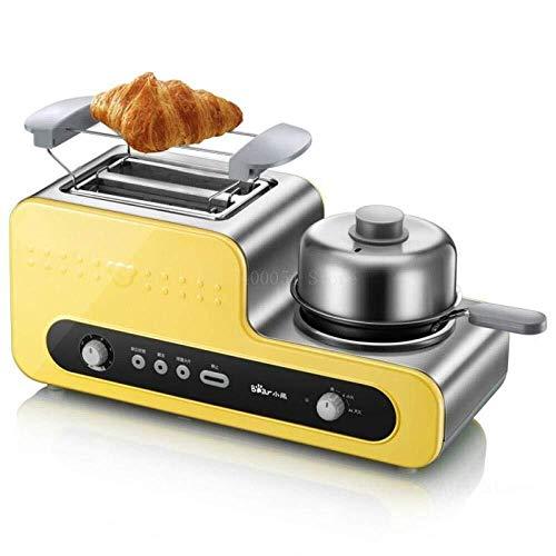 HL-TD Brotbackautomaten Toaster 3 In 1 Frühstück Maker Brot Makers Toaster Edelstahl-Körper-Antihaft-Bratpfanne Toaster Gluten-Frei