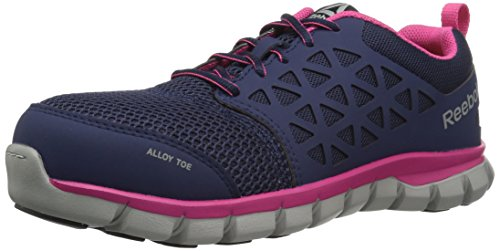 Reebok Women's Sublite Cushion Work RB046 Boot, Navy Pink, 8 M US