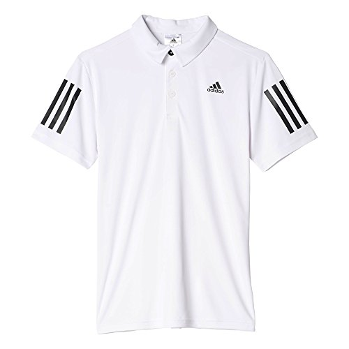 adidas Boys Tennis Club Polo, White, Large