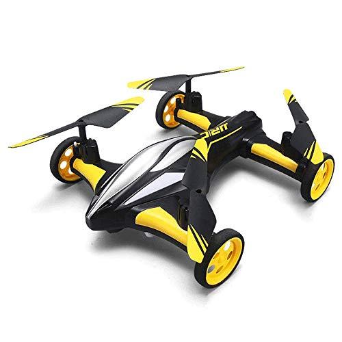 Modelo de dron terrestre y aéreo de modo dual, juguete de avión de control remoto aéreo de alta definición, juguete de coche de control remoto para niño, modo sin cabeza, luces LED, juguetes de interi
