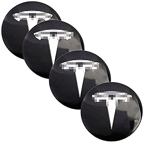 4pcs 56mm Metal Centro Tapacubos Tapas De Cubo De Centro De Rueda De Coche De Logotipo De Centro De Accesorios Para Tesla Model S X 3