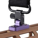 TuFok Mlok Sling Mount Stud - Gun Sling Swivel for Mlok System,Rifle Sling Mount fit Uncle Mikes Style Sling Swivel Stud, Low Profile Design,Aluminum (Purple)