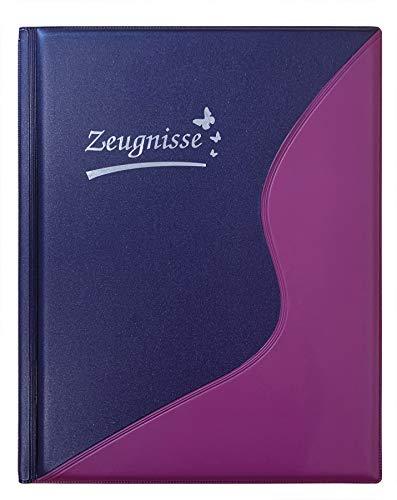 Idena 20102 - Zeugnismappe DIN A4, 12 Hüllen, violett, 1 Stück