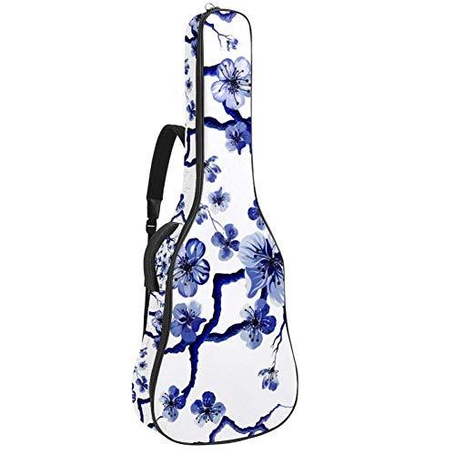 Tizorax Tasche für Akustikgitarre, Bambus, Vogel, Kranich, Baum, individueller Druck, Gitarrentasche mit gepolstertem Griff, Schultergurt 42.9x16.9x4.7 in muster 4