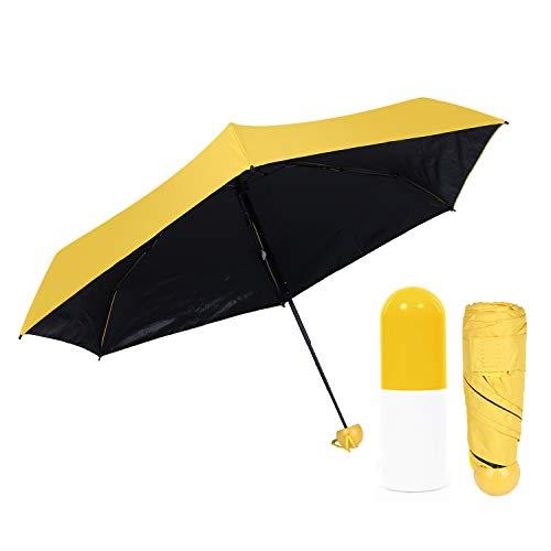 Paraguas amarillo Plegable Ultraligero