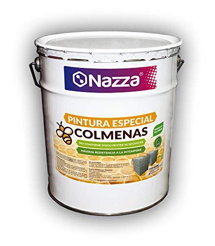 Pintura Acrílica Para Colmenas | Especial para Apicultura | No contiene Disolventes ni Secantes | Colores Agradables para las Abejas | Color Gris | 15 Litros