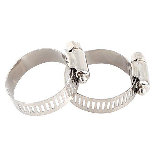 Abrazadera de manguera, clip de manguera de plata funcional con 10 piezas para conexión de tubería (22-32)