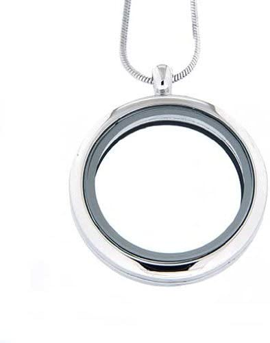 Clearly Charming Large Round Locket Necklace for Floating Charms