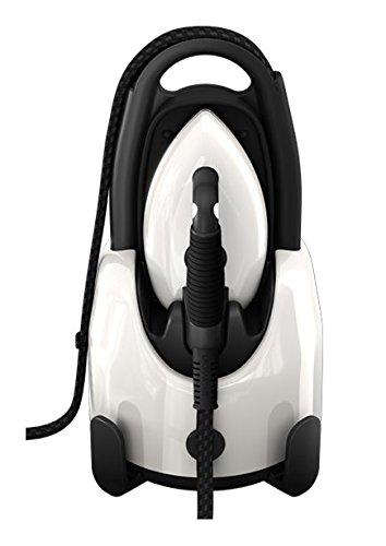 Laurastar Lift Pure White, Centrale Vapeur Nomade 3en1, Repasse, Défroisse et Purifie Vos Textiles, Vapeur Hygiénique, Design, Réservoir Amovible, Repassage Vertical, Blanc