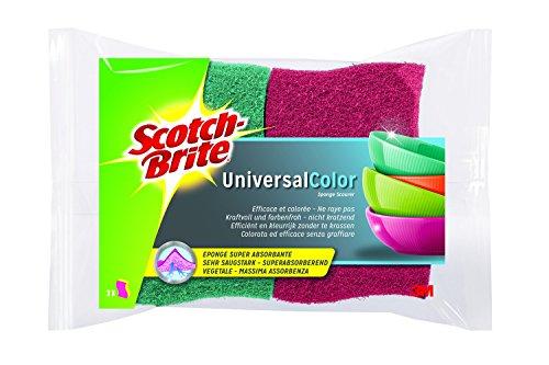 Scotch-Brite COC2 Éponge cellulosique en couleur, rose vif/rose pâle et vert/vert clair, Lot de 3 (3 x 2 Pièces)