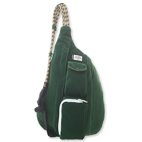 KAVU Mini Rope Cord Bag Corduroy Sling - Park Green