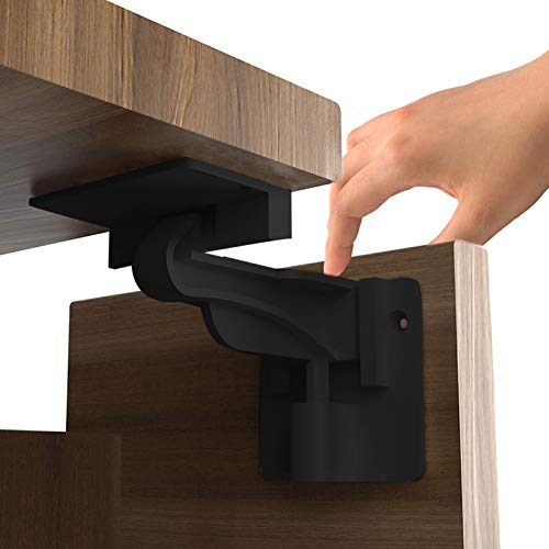 10 Pack Child Safety Cabinet Locks, Invisible Baby Cabinet Latch Locks, No Drilling or Tools Required for Installation, with Strong Adhesive for Non Magnetic Child Safety Locks