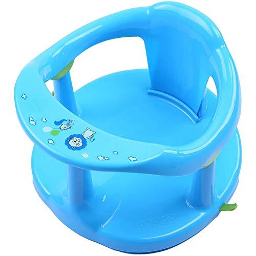 ZHURGN Asiento de bañera de bebé, Asiento de baño para bebés Infantiles, para bañarse Abdominales, Brinda Apoyo para el Respaldo y ventosas para la Estabilidad, para la bañera de bebé recién Nacido