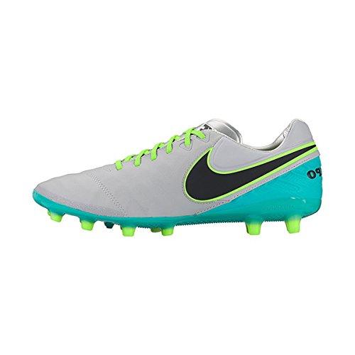 Nike Tiempo Legacy II AG-Pro, Botas de Fútbol Para Hombre, Gris (Wolf Grey / Black-Clear Jade), 40.5 EU