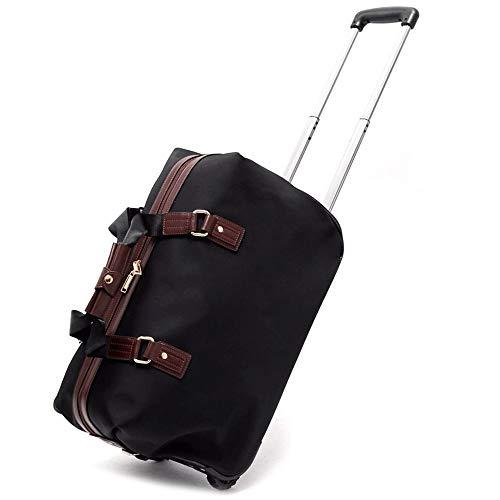 ZQY Draag een lichtgewicht Duffeltas voor het weekend overnachting Business Travel koffers met 2 zwenkwielen S