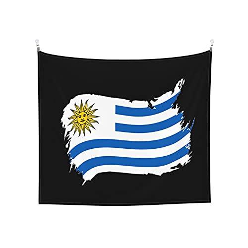 Uruguay Flaggen blau Tapisserie Wandbehang Tarot Boho Beliebt Mystic Trippy Yoga Hippie Wandteppiche für Wohnzimmer Schlafzimmer Wohnheim Heimdekor Schwarz & Weiß Stranddecke
