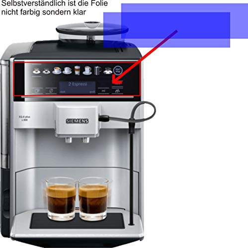 4ProTec I 2X ANTIREFLEX matt Schutzfolie für Siemens TE653501DE EQ.6 Plus S300 S700 S100 Kaffeevollautomat Displayschutzfolie Bildschirmschutzfolie Schutzhülle Displayschutz Displayfolie Folie
