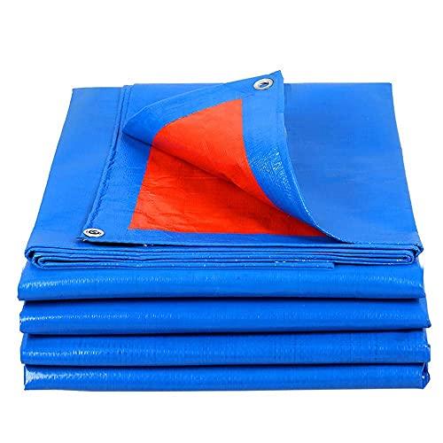 Cubierta de Lona de Polietileno Impermeable Multiusos, Lona de Polietileno Azul con Ojales de Aluminio, Resistente a la oxidación y a los Rayos UV para automóviles, Barcos, contratistas de construcc