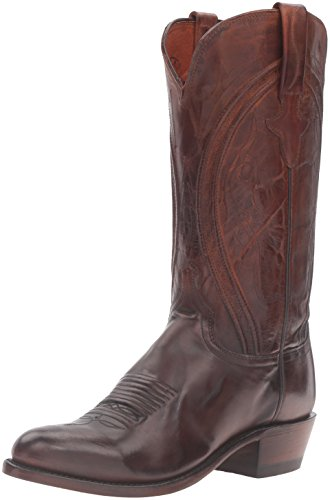 Lucchese Bootmaker Men's Clint-ant Pb Md Goat Riding Boot, Antique Peanut Brittle, 12 D US
