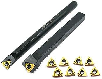 Lathe Threading Tool SER1010H11+SNR0010K11 Inserts 5pcs 11ER AG60 +5pcs 11IR AG60 for Boring Bar Holder CNC Turning Tool